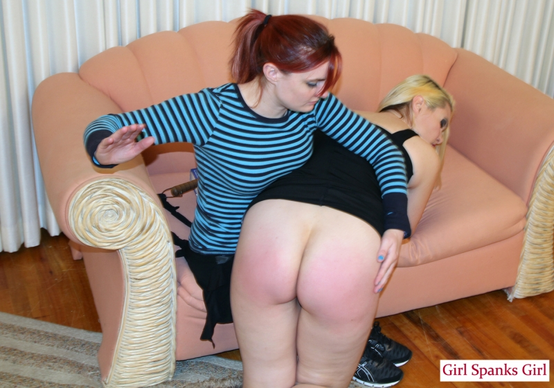 Spanked by step mom
