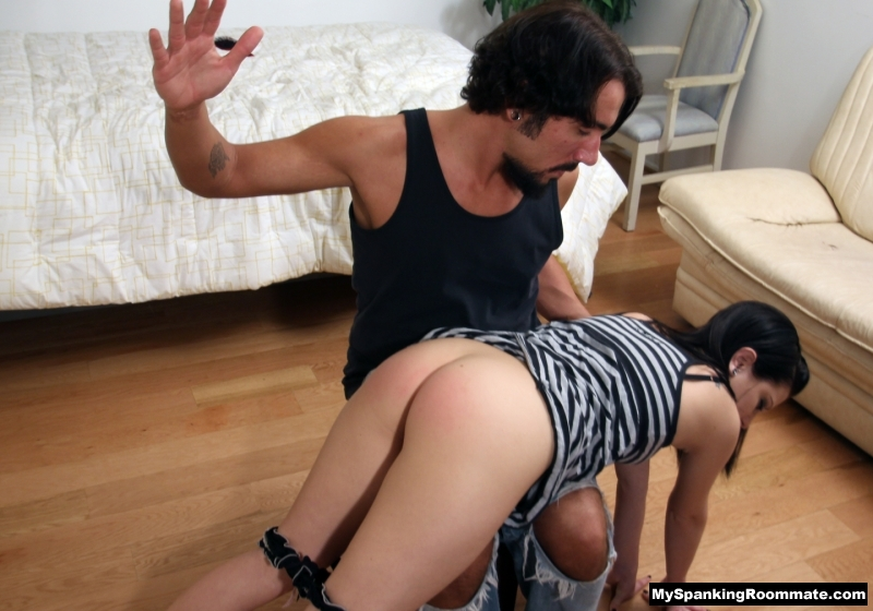 pink spanked butt M/f